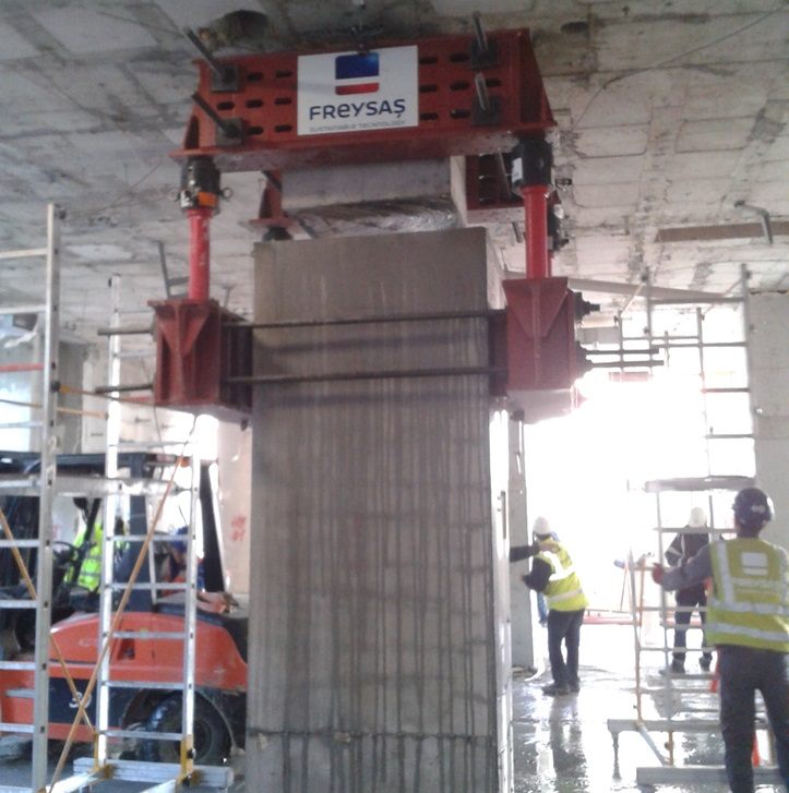 The Installation of Seismic Insulating System is in   Our University Hospital