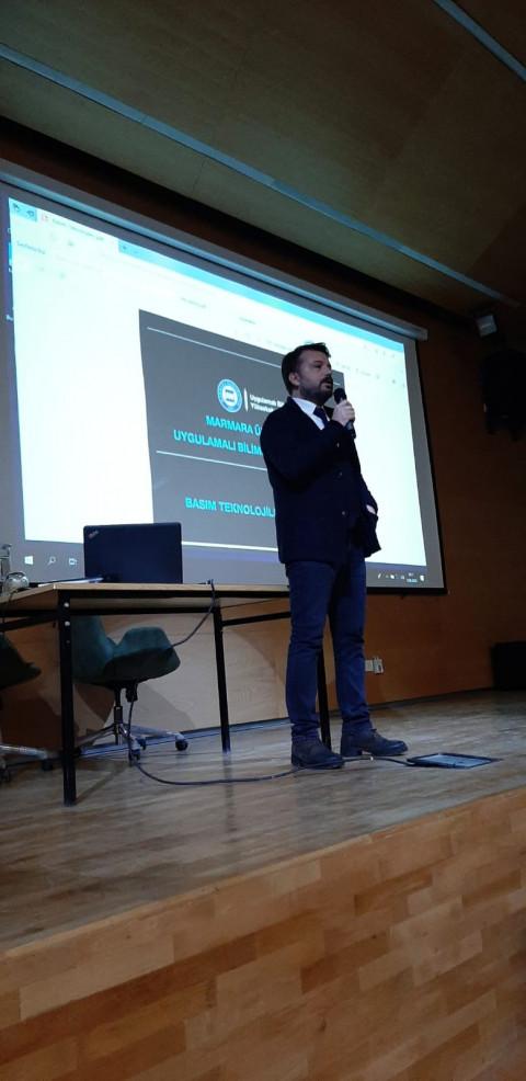 """Marmara Üniversitesi Basım Teknolojileri Kulübü """"Bölüm Tanıtım""""  Semineri Düzenledi"""