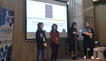 """Öğrencilerimiz """"OZU MAKEATHON"""" Girişimcilik Yarışmasında 3'ncü Oldular"""