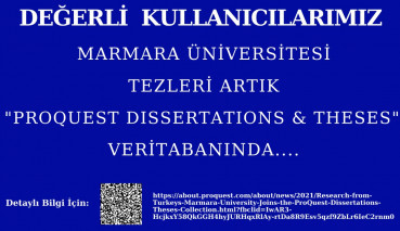 Marmara University's Theses Have Took Place In the