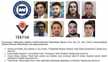Mühendislik Fakültesi Elektrik-Elektronik Mühendisliği Lisans Öğrencilerimizin TÜBİTAK Proje Başarıları