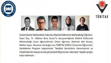 Mühendislik Fakültesi Elektrik Elektronik Mühendisliği Öğrencilerimizden TÜBİTAK Proje Başarısı